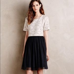 Anthropologie lace tulle dress